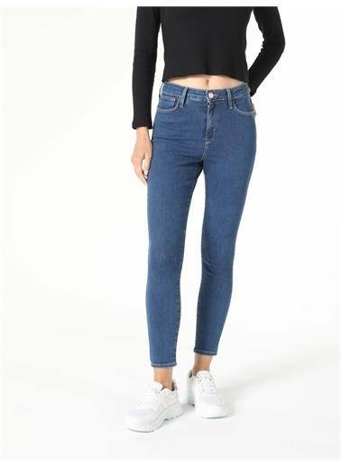 Colin's CL1057146_Q1.V1_DN08093 760 Dıana Super Slim Fit Yüksek Bel Dar Paça Kadın Jean Pantolon Renkli